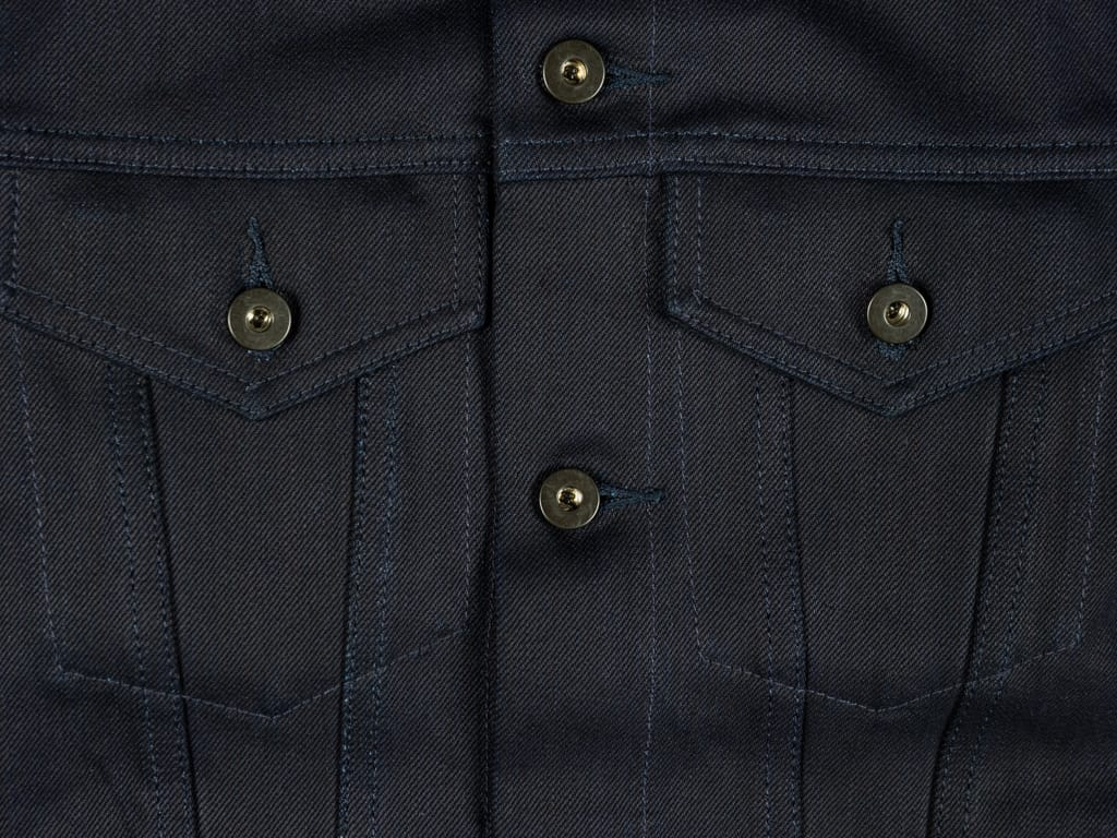 3sixteen Type 3s Denim Jacket Shadow Selvedge chest pockets