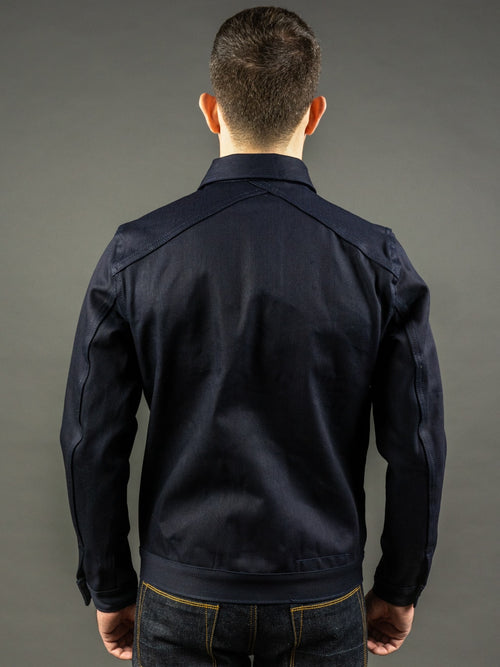 3sixteen Type 3s Denim Jacket Shadow Selvedge indigo back