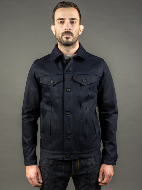 3sixteen Type 3s Denim Jacket Shadow Selvedge indigo front