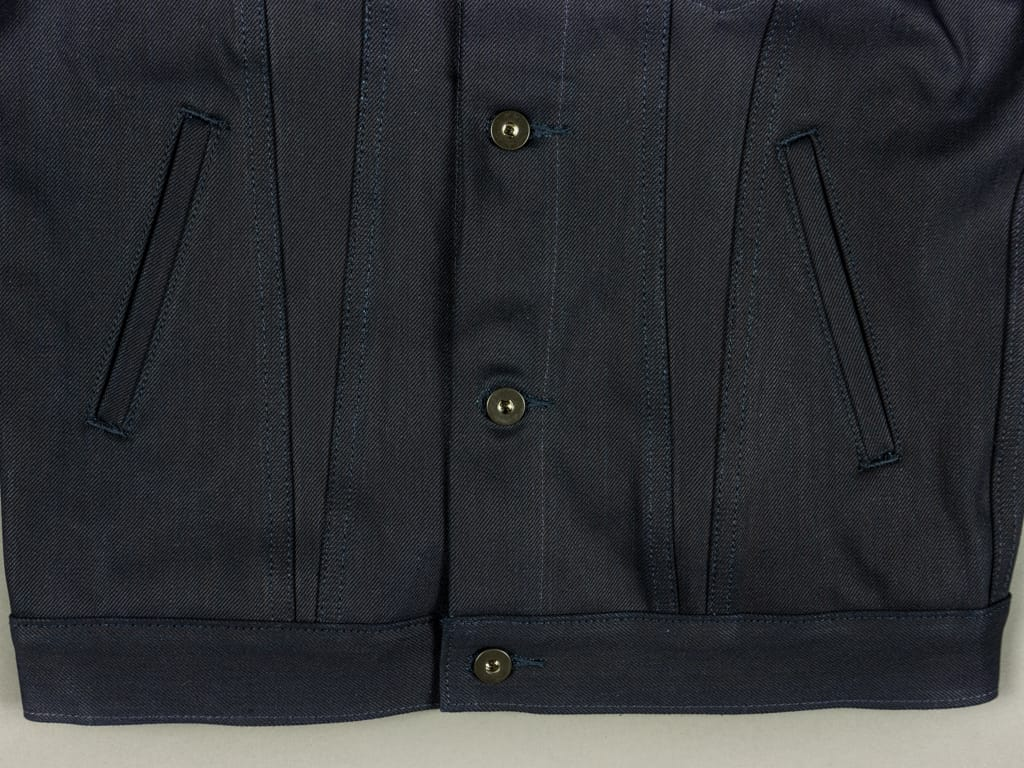 3sixteen Type 3s Denim Jacket Shadow Selvedge side pockets