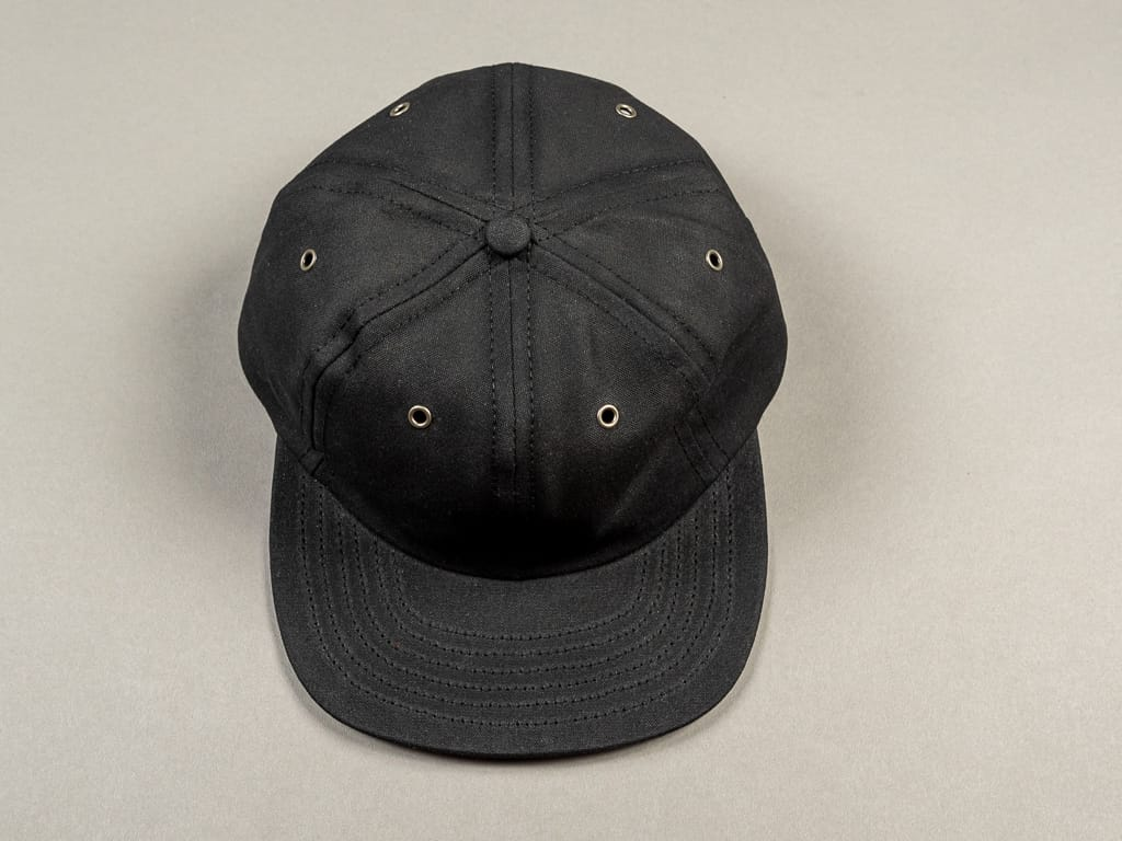3sixteen Waxed Canvas Baseball Cap Black