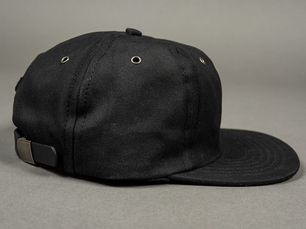 3sixteen Waxed Canvas Baseball Cap Black side