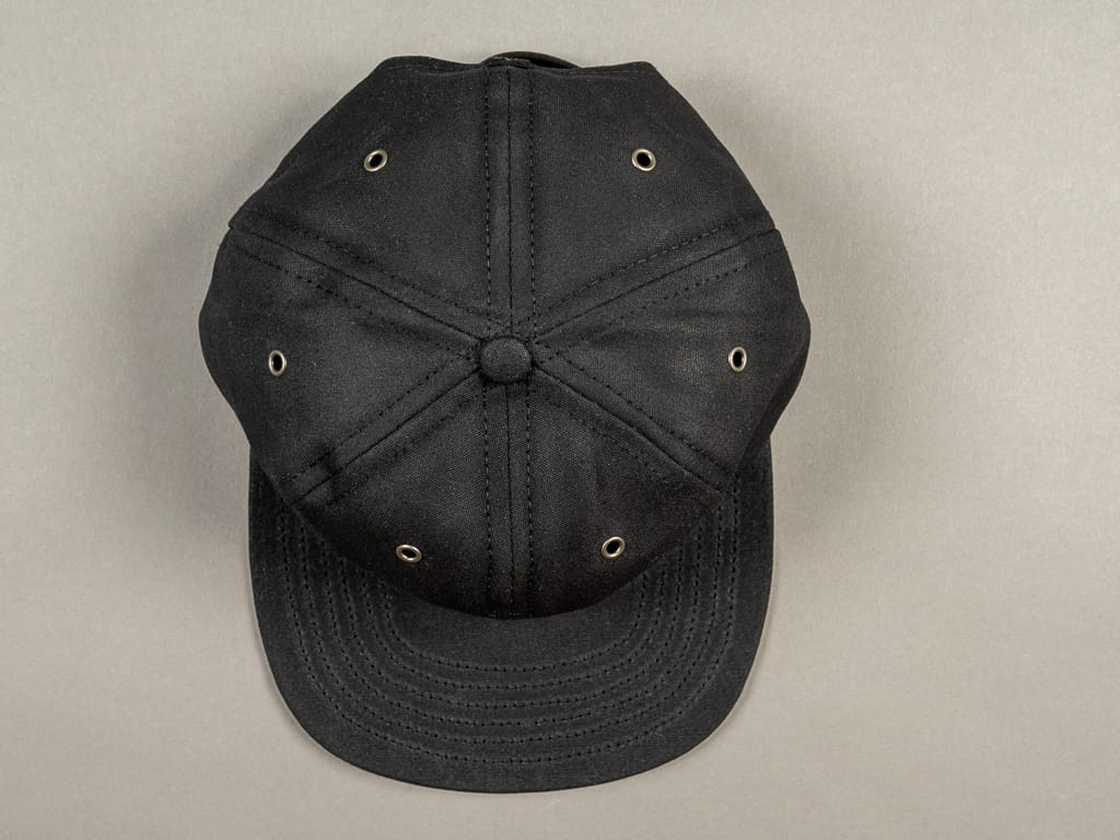 3sixteen Waxed Canvas Baseball Cap Black front
