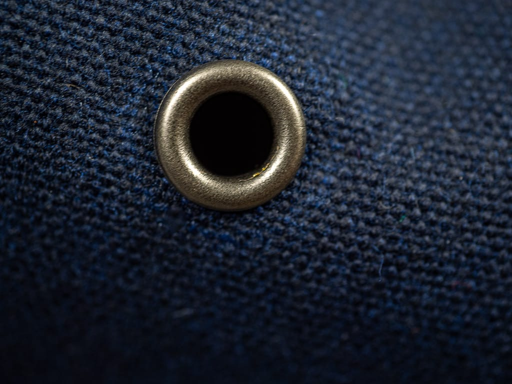 3sixteen Waxed Canvas Baseball Cap Navy detail