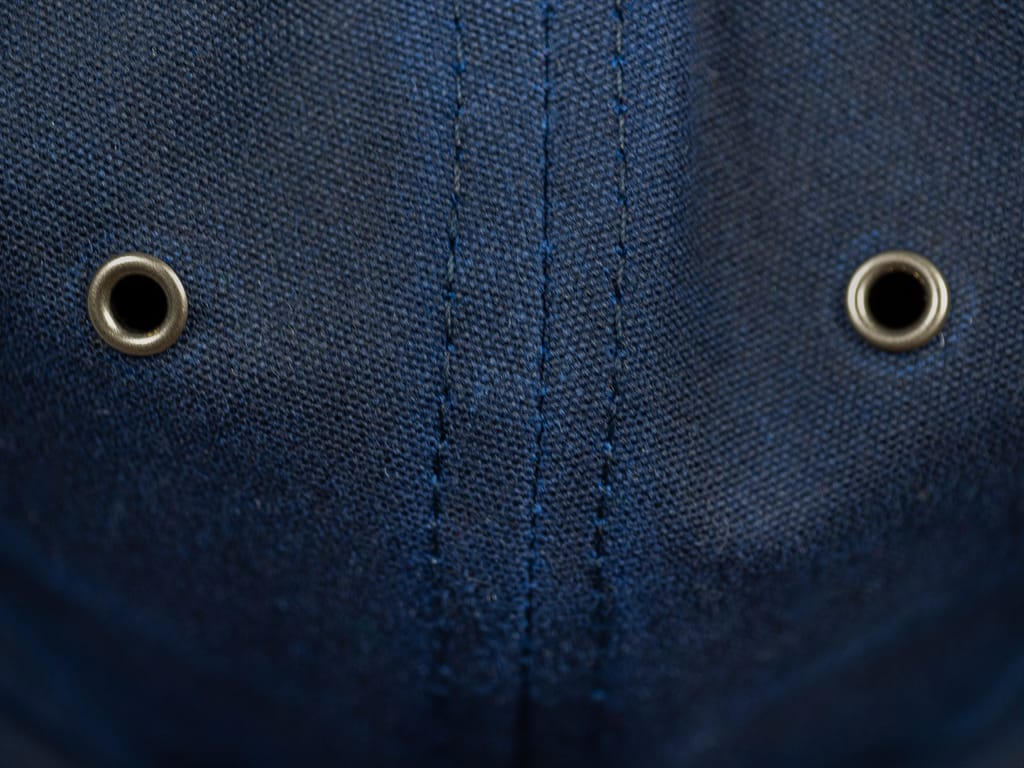 3sixteen Waxed Canvas Baseball Cap Navy detail fabric