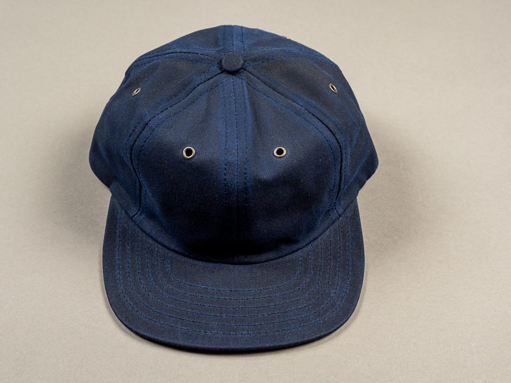 3sixteen Waxed Canvas Baseball Cap Navy front