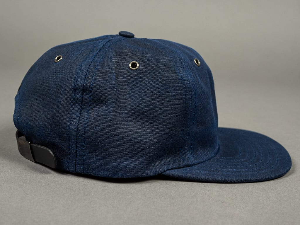 3sixteen Waxed Canvas Baseball Cap Navy side