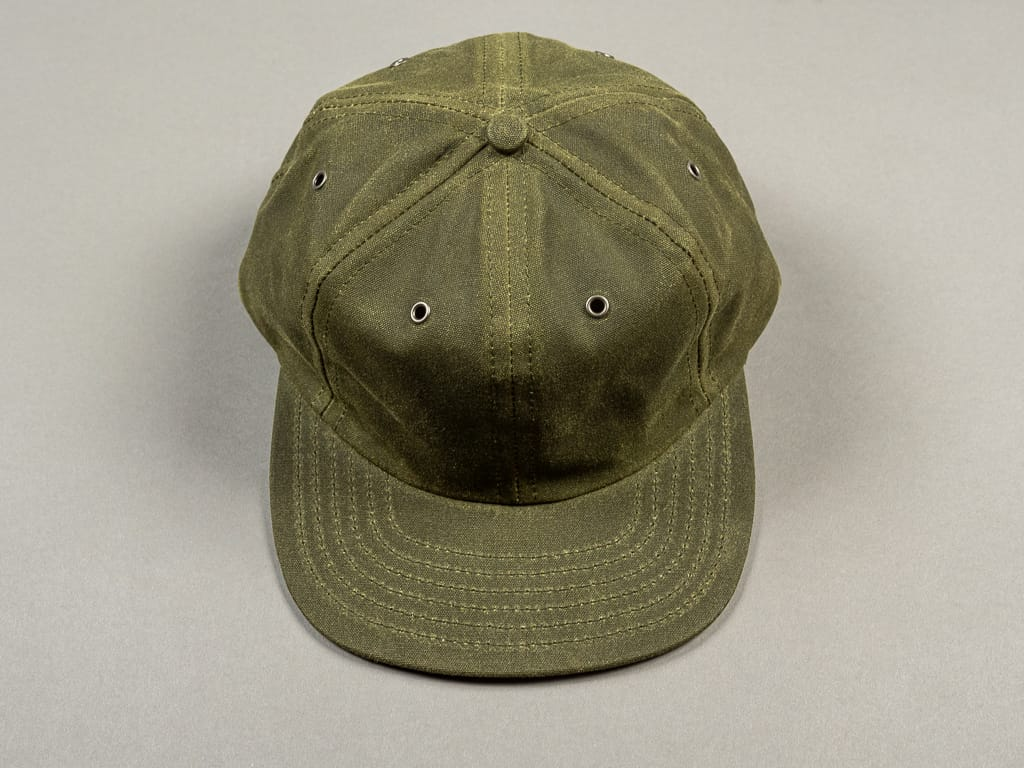3sixteen Waxed Canvas Baseball Cap Olive front
