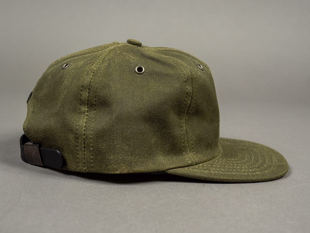3sixteen Waxed Canvas Baseball Cap Olive side