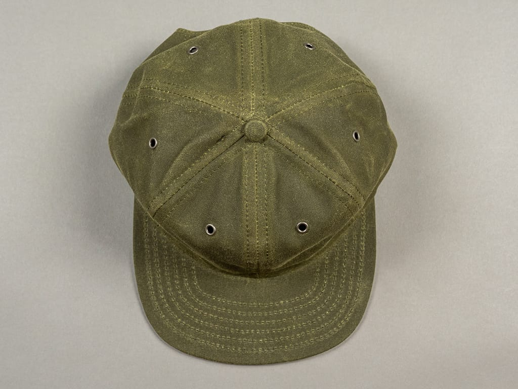 3sixteen Waxed Canvas Baseball Cap Olive