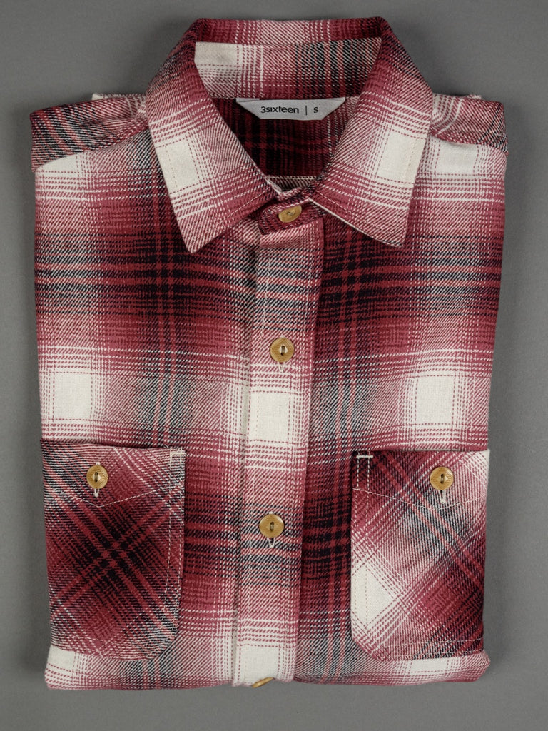 3sixteen flannel Shirt Red