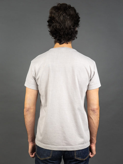 3sixteen Garment Dyed pocket t-shirt Ash back