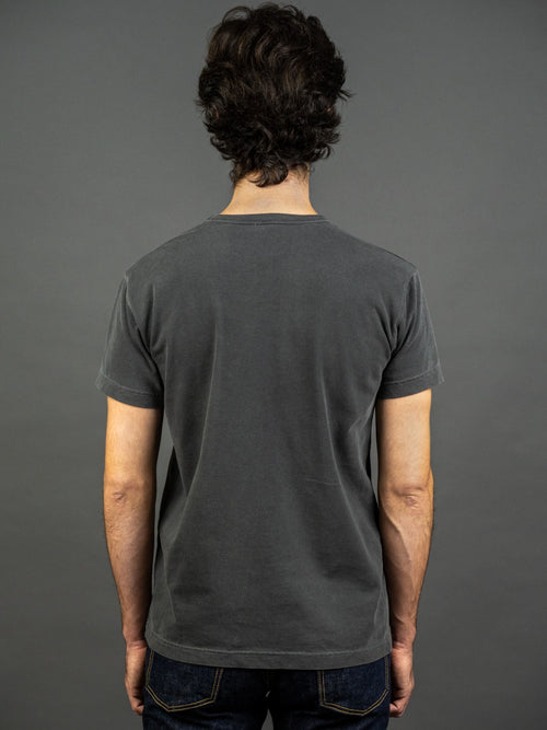 3sixteen Garment Dyed pocket t-shirt Smoke back