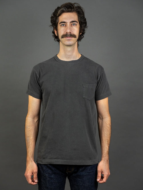 3sixteen Garment Dyed pocket t-shirt Smoke