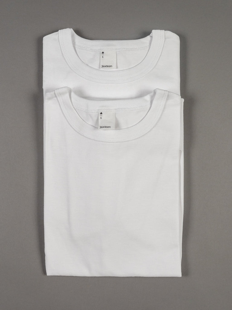 3sixteen Heavyweight T-Shirt white 2 pack