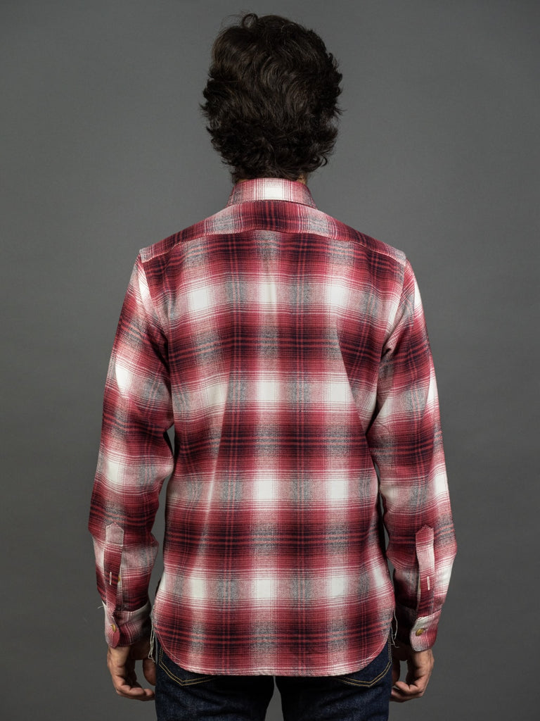 3sixteen Utility Shirt Red Flannel back