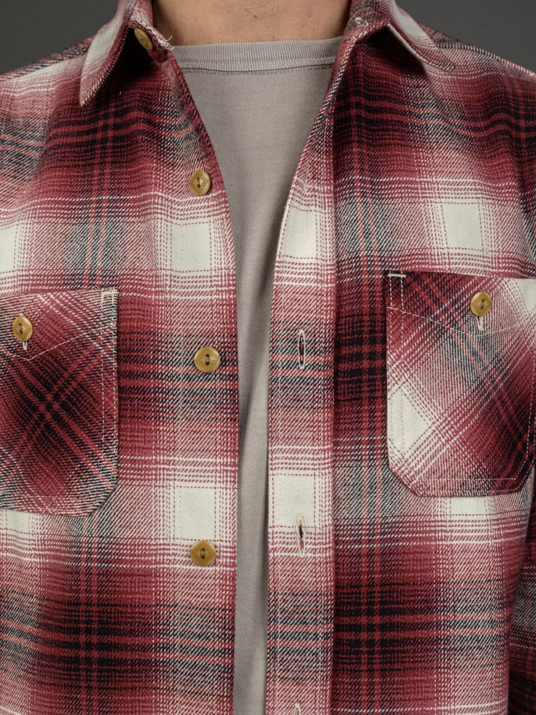 3sixteen Utility Shirt Red Flannel buttons