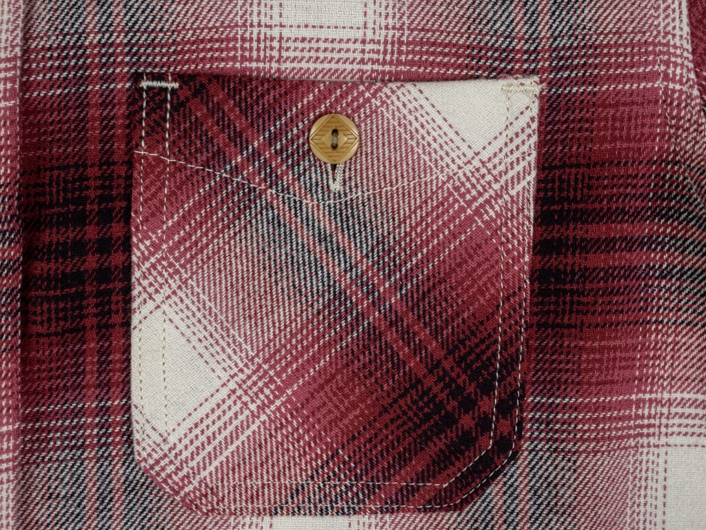 3sixteen Utility Shirt Red Flannel pocket detail