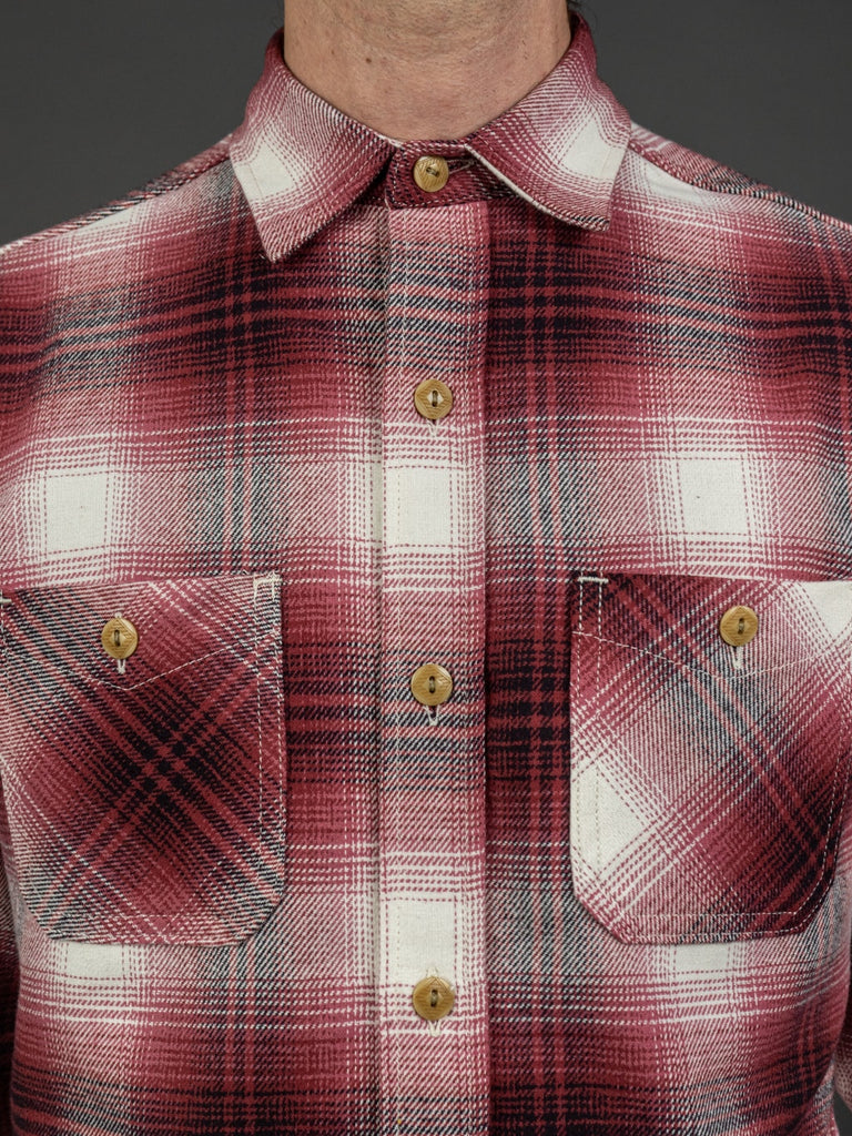 3sixteen Utility Shirt Red Flannel chest pockets