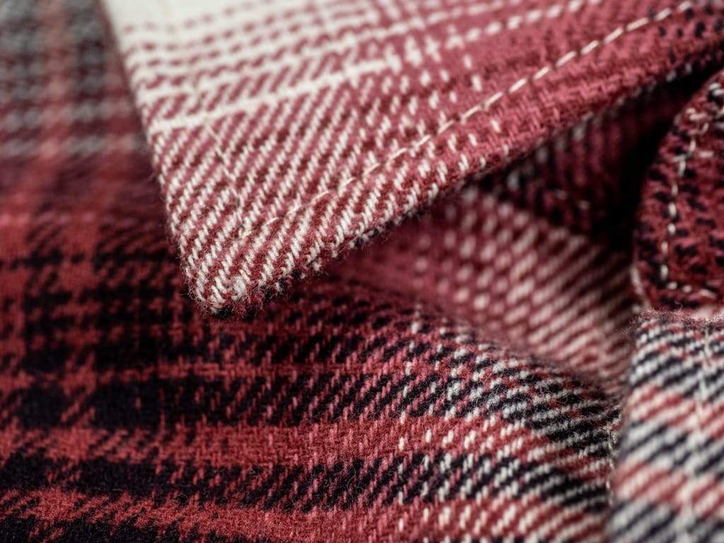 3sixteen Utility Shirt Red Flannel collar detail