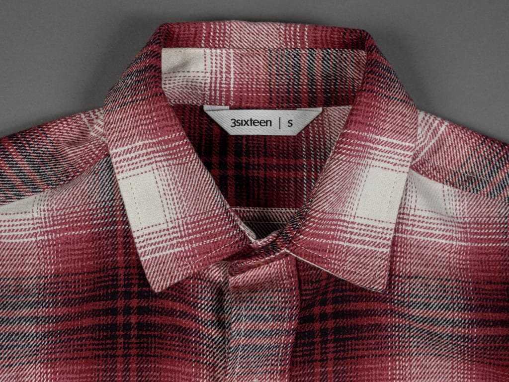 3sixteen Utility Shirt Red Flannel collar