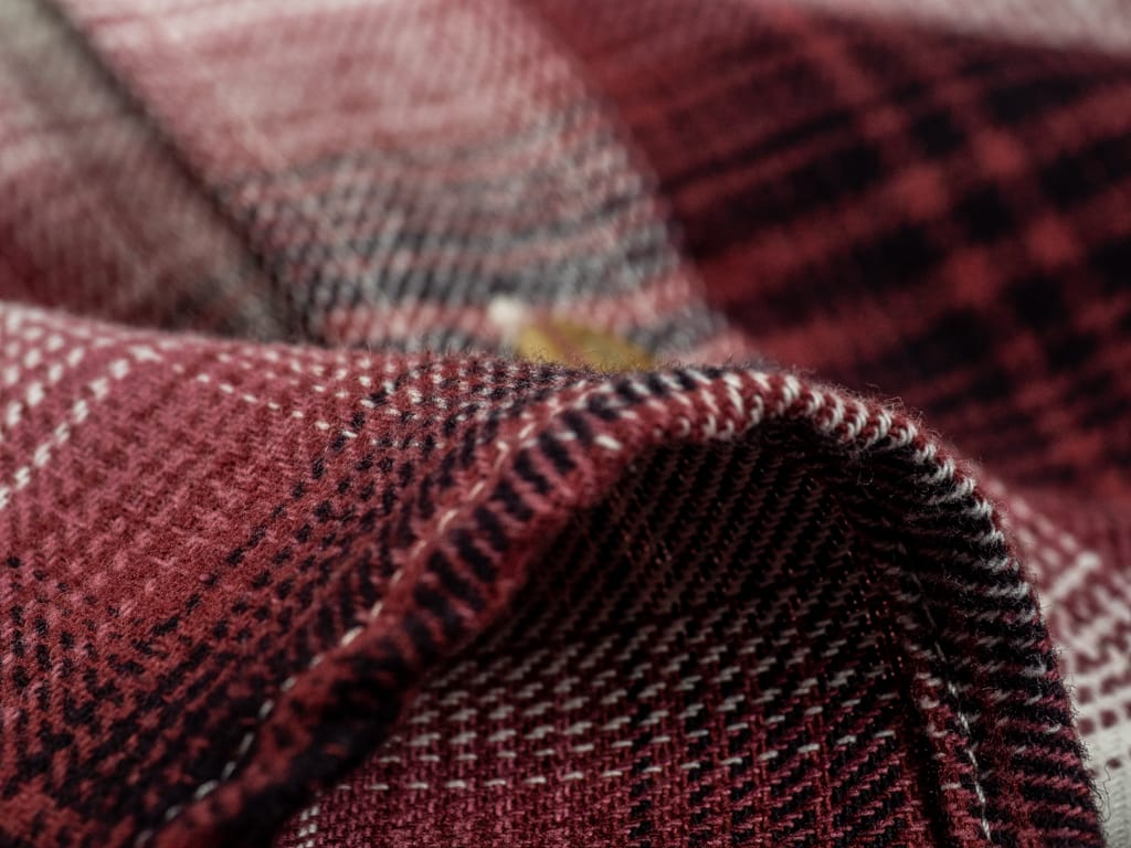 3sixteen Utility Shirt Red Flannel fabric