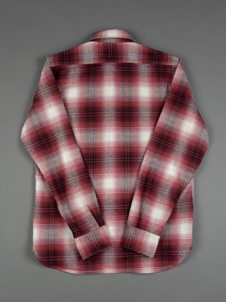 3sixteen Utility Shirt Red Flannel pattern back