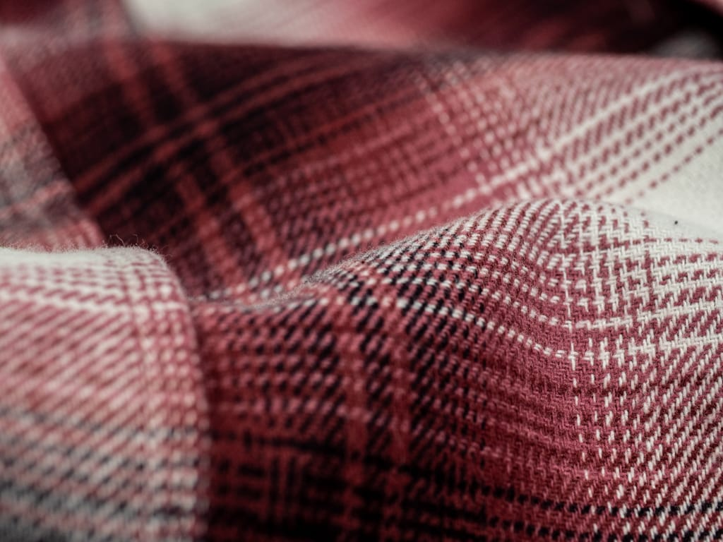 3sixteen Utility Shirt Red Flannel pattern fabric