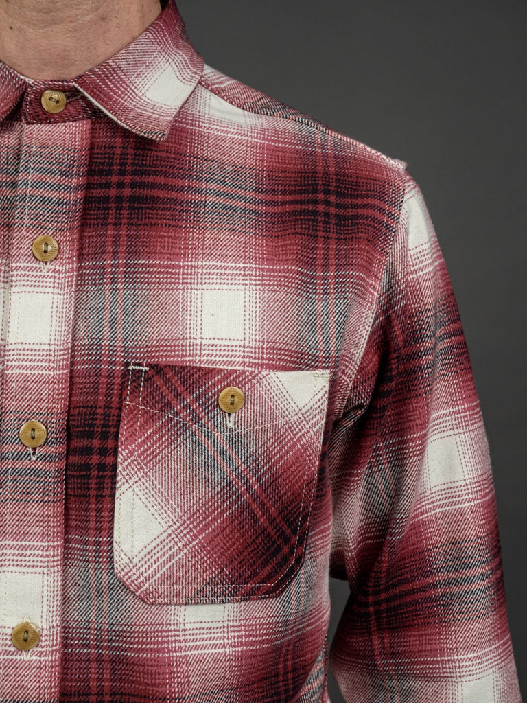 3sixteen Utility Shirt Red Flannel pocket