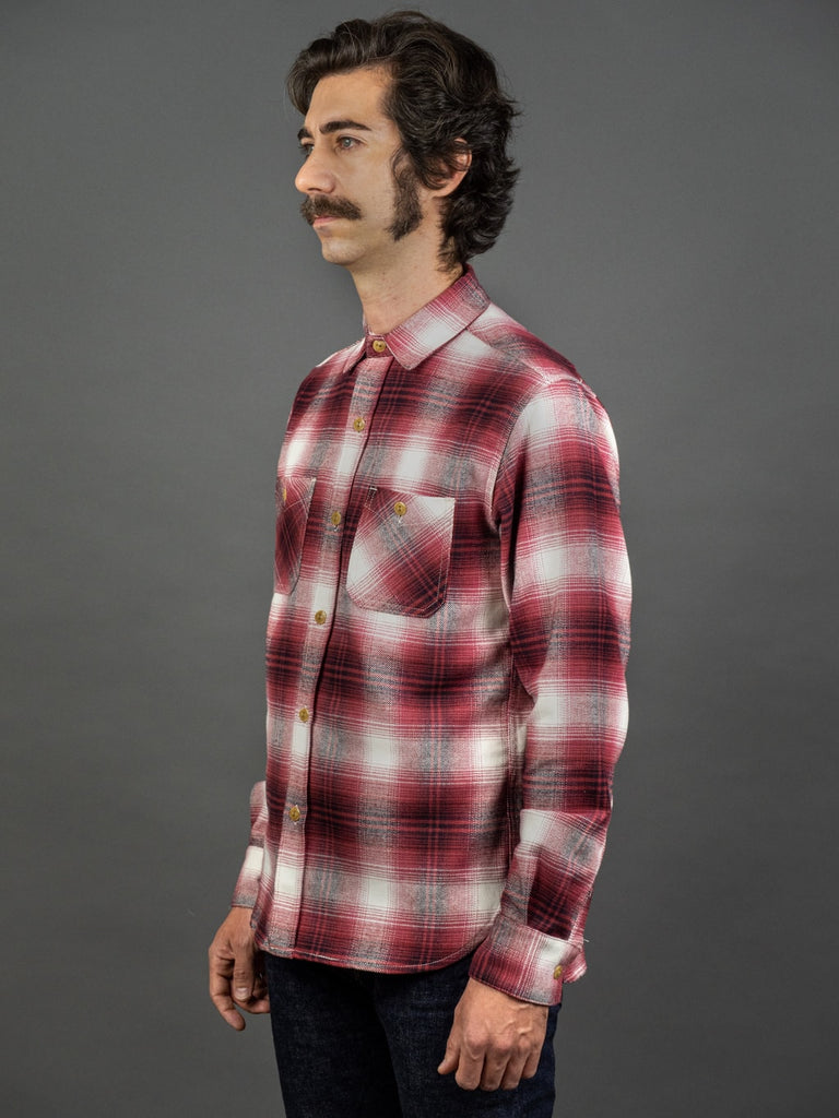 3sixteen Utility Shirt Red Flannel side