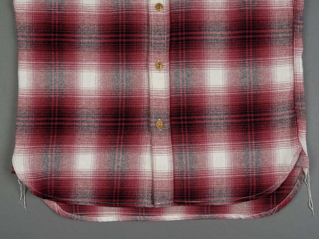 3sixteen Utility Shirt Red Flannel waist