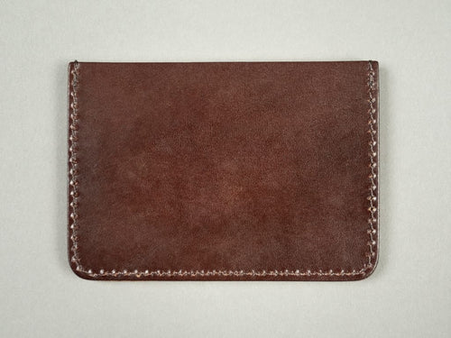 Kobashi Studio Leather Card Sleeve brown back