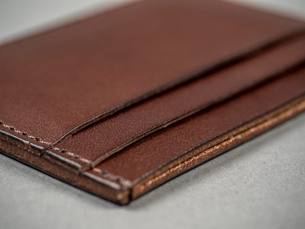 Kobashi Studio Leather Card Sleeve card slots