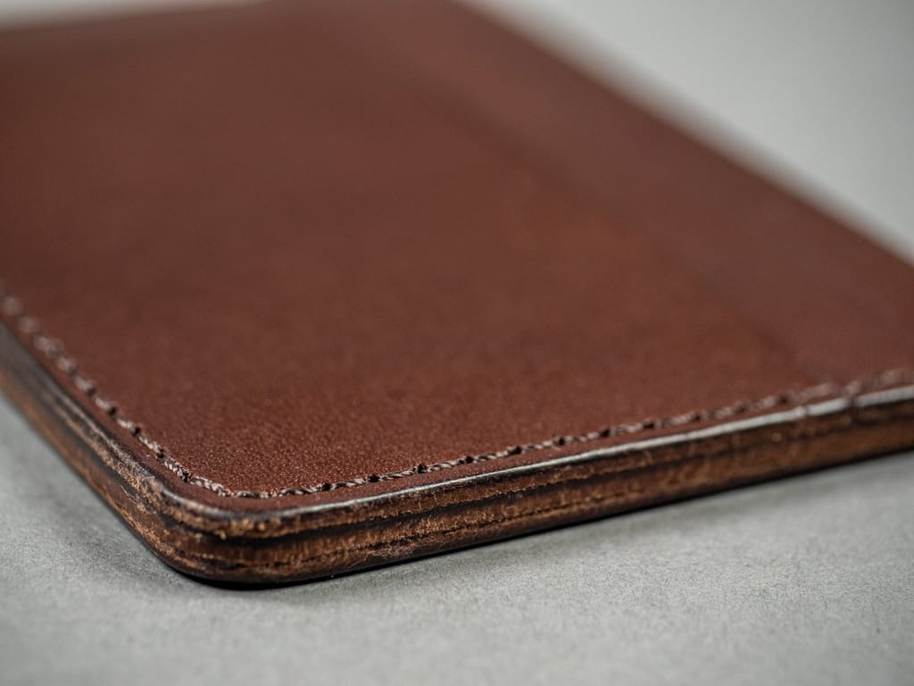 Kobashi Studio Leather Card Sleeve side detail