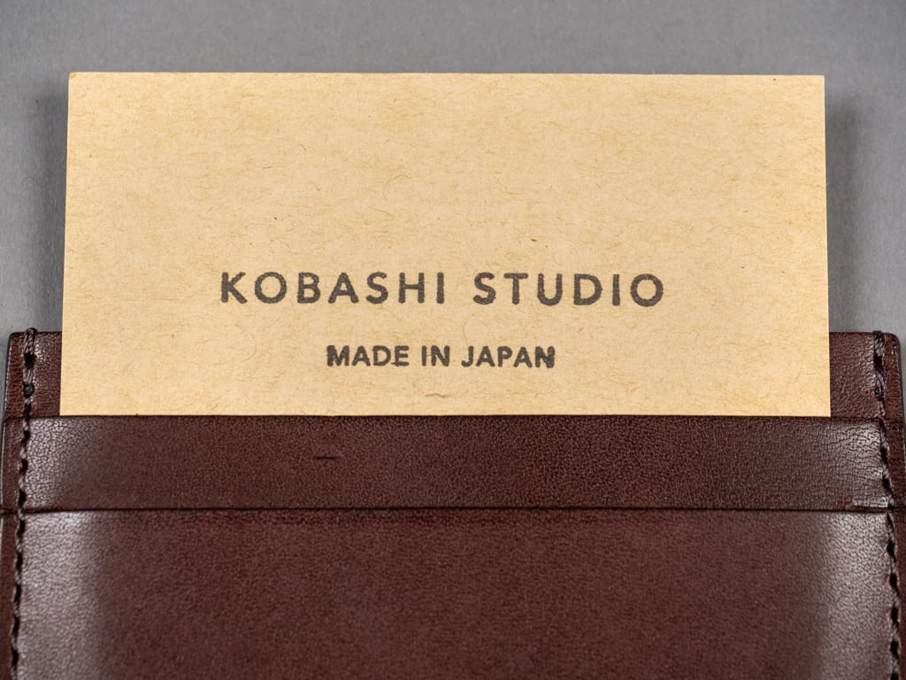 Kobashi Studio Leather Card Sleeve detail