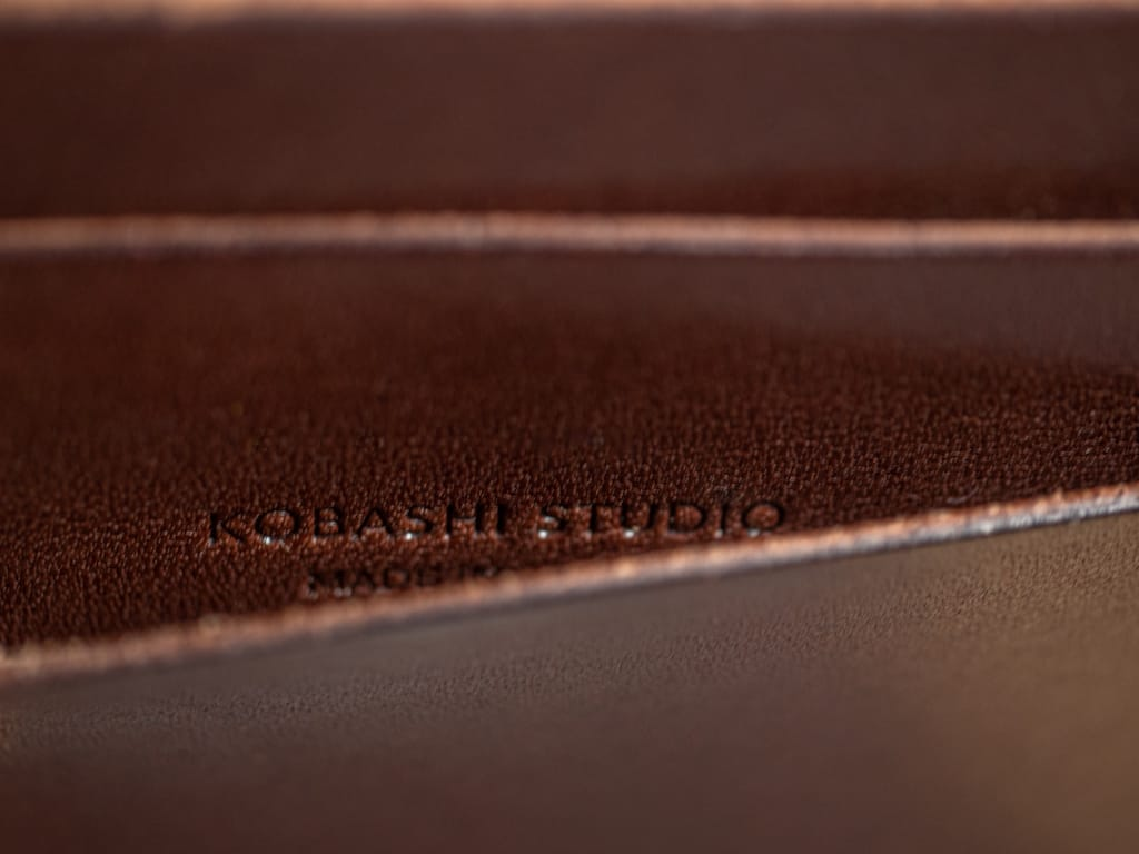 Kobashi Studio Leather Card Sleeve logo