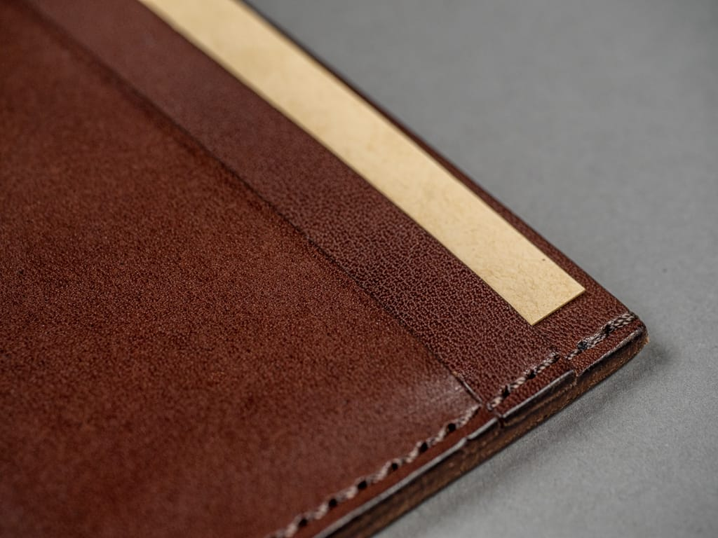 Kobashi Studio Leather Card Sleeve vegetable tanned