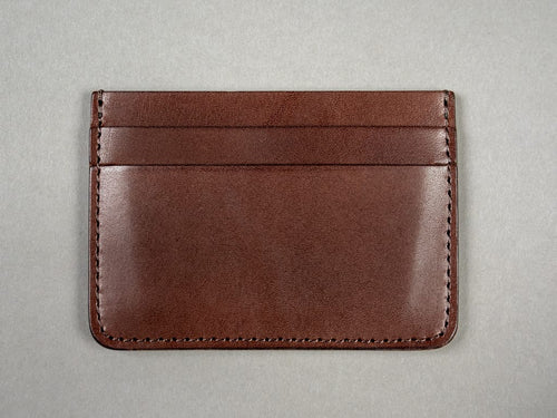 Kobashi Studio tochigi Leather Card Sleeve brown