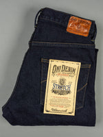 ONI 922S Deep Grey Overdye Stretch High Tapered Jeans