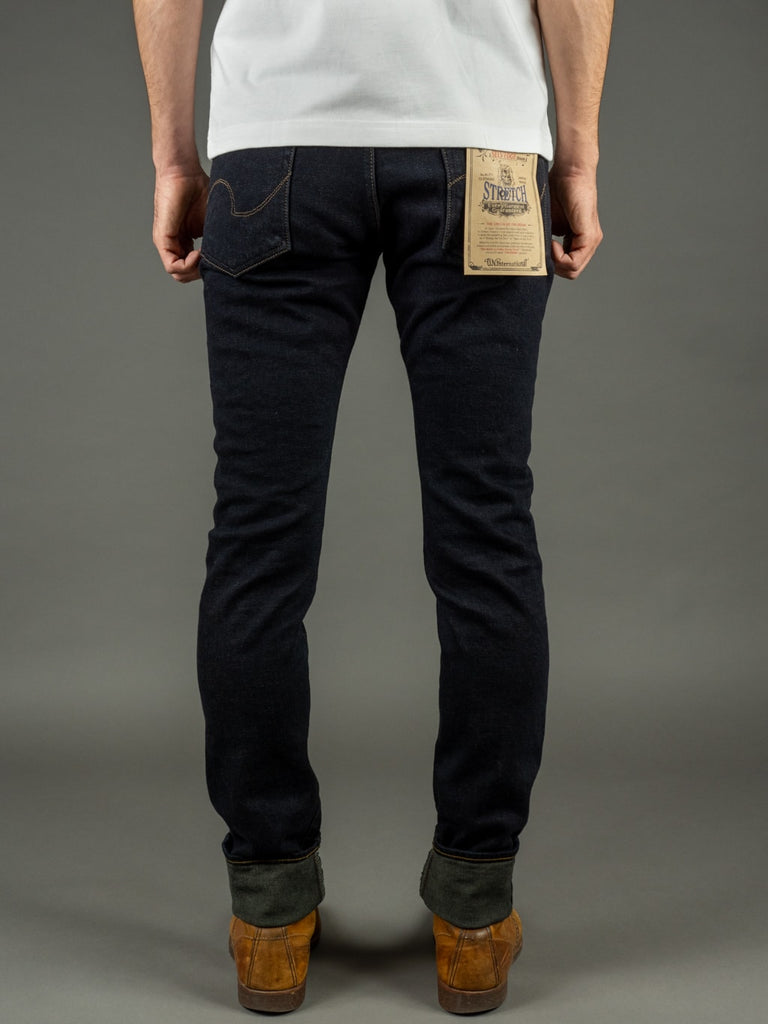 ONI 922S Deep Grey Overdye Stretch High Tapered Jeans back