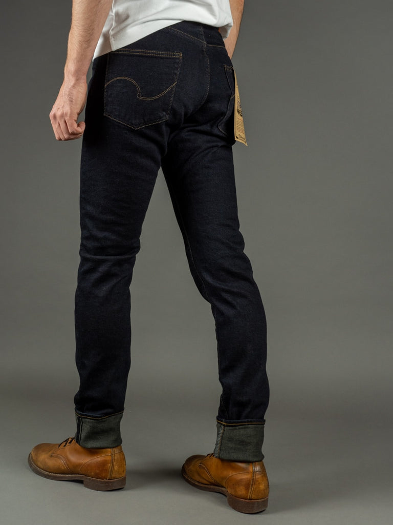 ONI 922S Deep Grey Overdye Stretch High Tapered Jeans fit