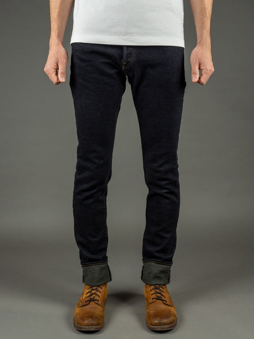 ONI 922S Deep Grey Overdye Stretch High Tapered  indigo Jeans