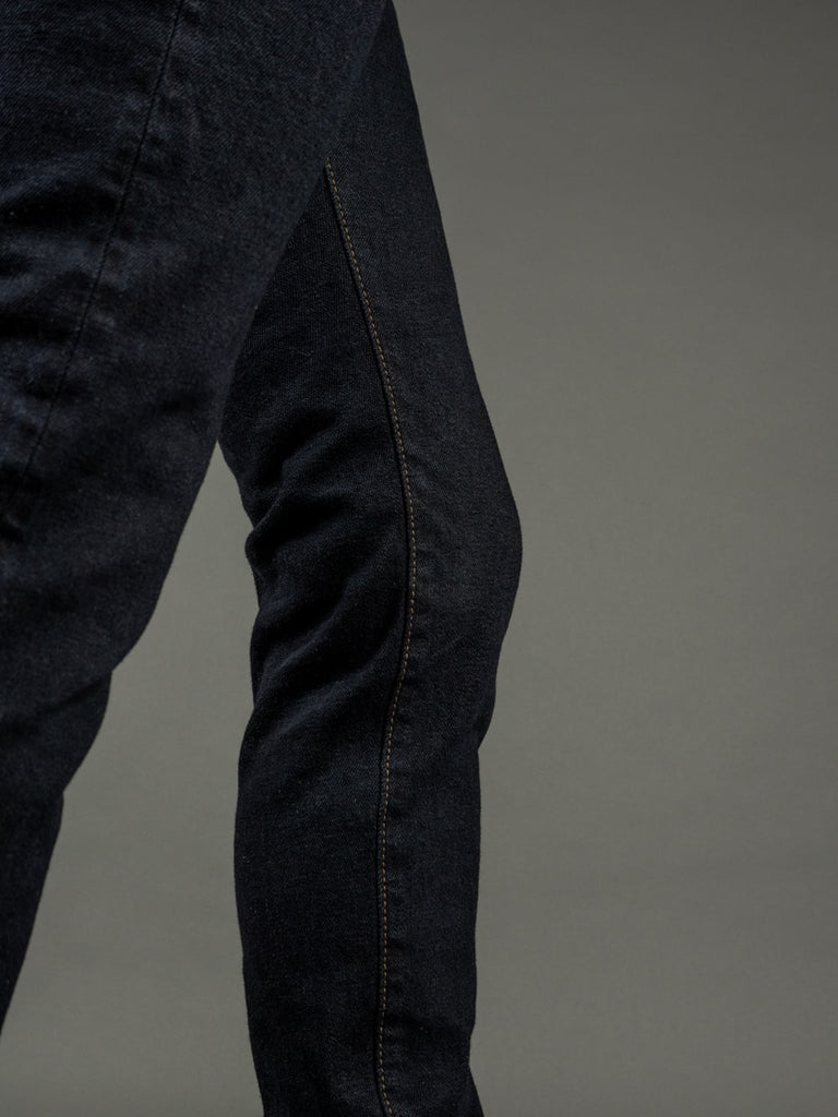 ONI 922S Deep Grey Overdye Stretch High Tapered Jeans inseam
