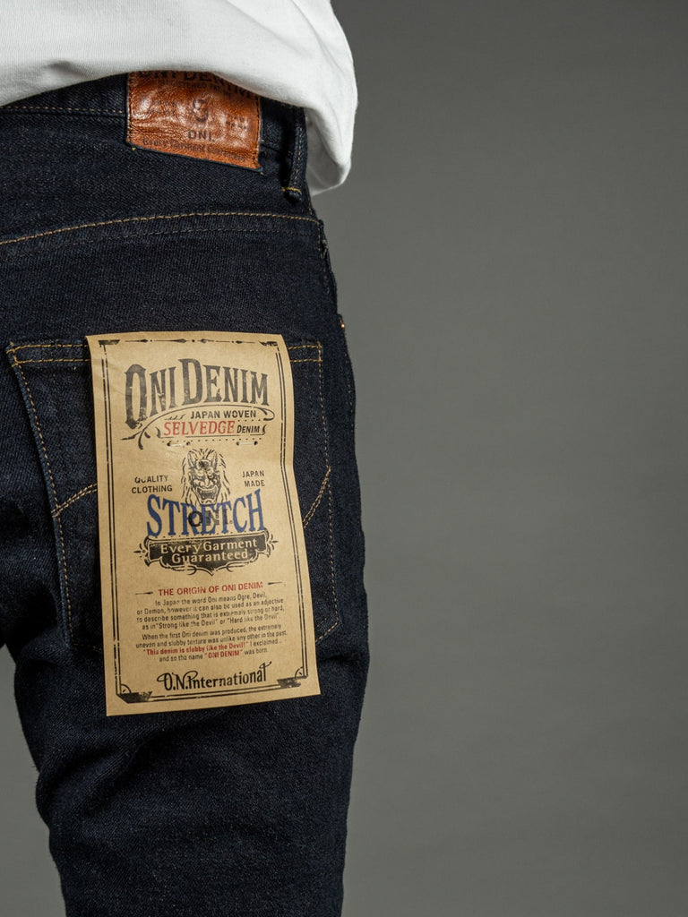 ONI 922S Deep Grey Overdye Stretch High Tapered Jeans pocket