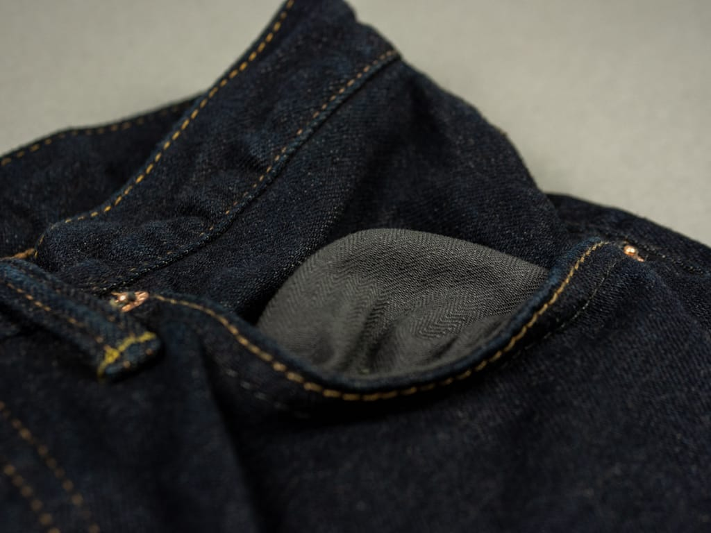 ONI 922S Deep Grey Overdye Stretch Jeans lining pocket