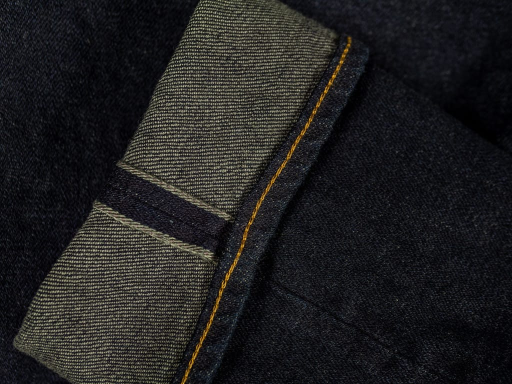 ONI 922S Deep Grey Overdye Stretch Jeans selvedge line