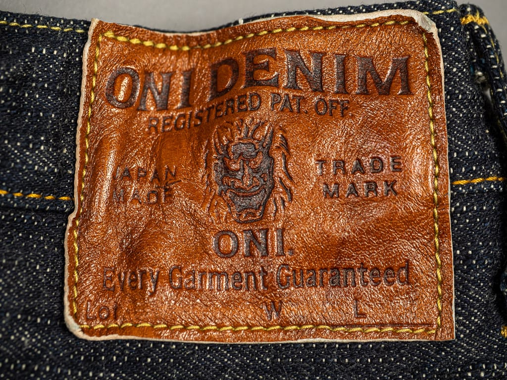 "ONI Denim 902 ""Kihannen"" Jeans leather patch"