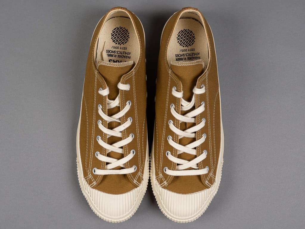 Pras shellcap low sneakers brown off white canvas upper