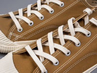Pras shellcap low sneakers brown off white laces