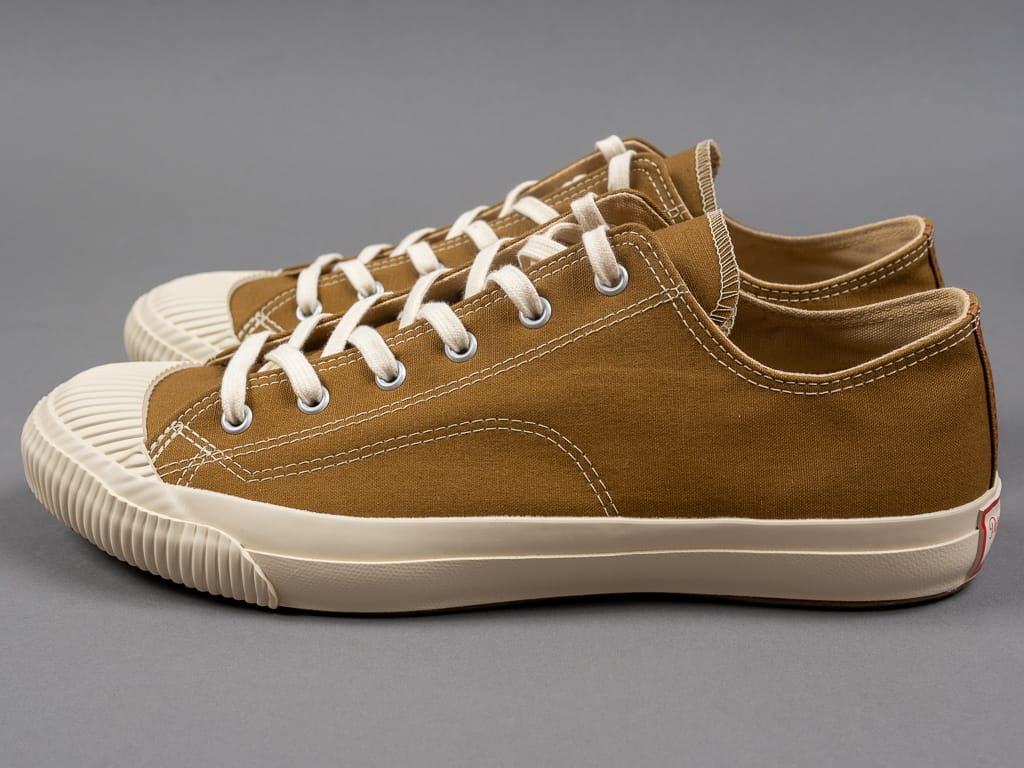 Pras shellcap low sneakers brown off white vulcanized